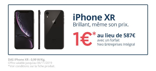 Promotion Apple iPhone Xr à 1€