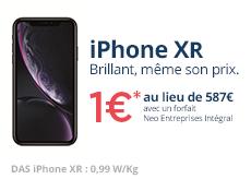 Profitez dès maintenant de l'iPhone Xr à 1€