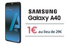 Le Samsung Galaxy A40 à 1€